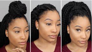 getlinkyoutube.com-3 Hairstyles For Crochet Box Braids | Jaz Jackson