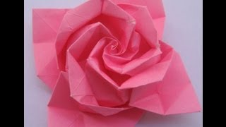 getlinkyoutube.com-origami tutorial: Rose