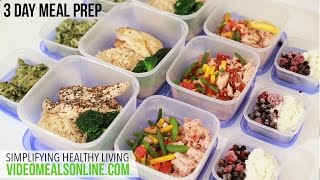 getlinkyoutube.com-3 Day Meal Preparation