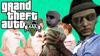 GTA V Funny || قراند 5 : بابا داود وعياله