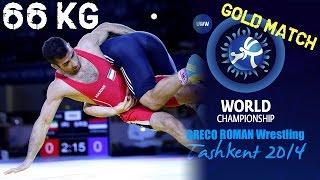 getlinkyoutube.com-Gold Match - Greco Roman Wrestling 66 kg - O. NOROOZI (IRI) vs D. STEFANEK (SRB) - Tashkent 2014
