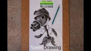 getlinkyoutube.com-Dibujo del Pea-Shooter/lanzaguisantes de Plants vs Zombies Garden Warfare