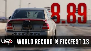 getlinkyoutube.com-1200HP+ USP Audi S4 Resets 1/4 Mile World Record @ FixxFest 13