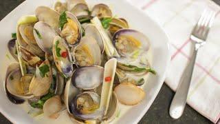 getlinkyoutube.com-Coconut Lemongrass Clams - Hot Thai Kitchen