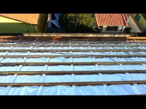 Colocação forro e manta em um telhado sem laje. SG01 Itamambuca