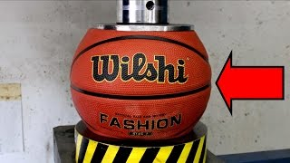 EXPERIMENT HYDRAULIC PRESS 100 TON vs BASKETBALL