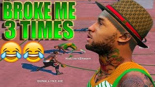 getlinkyoutube.com-NBA 2K16 MY PARK - LEGEND BROKE MY ANKLES 3 TIMES!!! | Game Winning shot