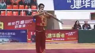 getlinkyoutube.com-2011 China Traditional Wushu Nationals / Shuang Jian - Yu Te (Zhejiang)