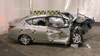 getlinkyoutube.com-2013 Nissan Versa | Crash Test Documentation, Frontal Oblique Offset Test by NHTSA | CrashNet1