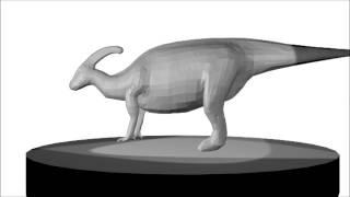 Low Poly Parasaurolophus (Dinosaur)