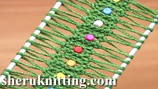 getlinkyoutube.com-Hairpin Lace Crochet With Beads Tutorial 25 Easy to Make Hairpin Strip