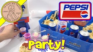 getlinkyoutube.com-Pepsi Cola Majik Soda Fountain Dispenser Kids Party Set