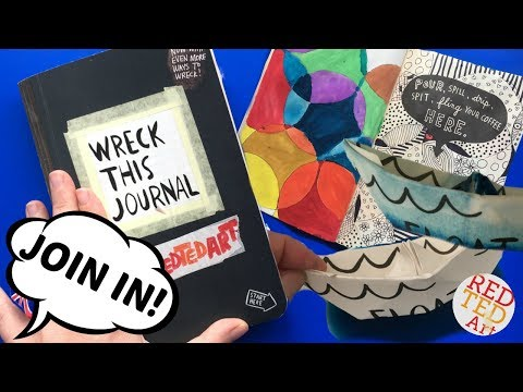 Easy Wreck This Journal Ideas - Easy & Simple Inspiration (Part 2) - Float this Page - Spill Coffee