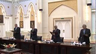 مراسم تحلیف ۸ تن از وزرای کابینه حکومت وحدت ملی
