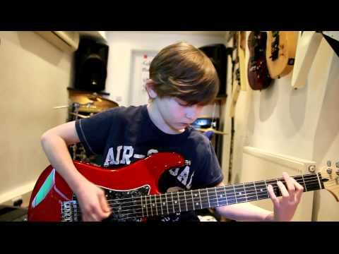 10 year old Mini Band guitarist Kieran Fell plays Monkey Wrench by Foo Fighters