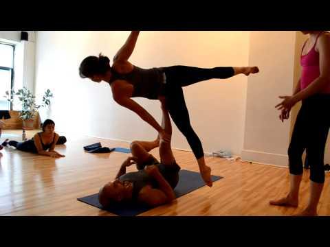 yogaFLIGHT enjoying Acro Yoga lessons, Ashtanga Montreal Style