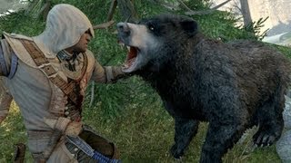 getlinkyoutube.com-Assassin's Creed 3 Achilles Costume & Hunting Bears , Cougar , Bobcat and Elk