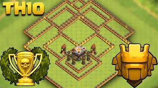 TH10 Trophy Base   COC Town Hall 10 Pushing To TITAN Cup   Clash Of Clans