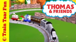 getlinkyoutube.com-Spencer and Toby Thomas Magical Tracks Kids Train Set APP Gameplay