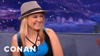 getlinkyoutube.com-Women's Motorcross Champion Ashley Fiolek Part 1 06/19/12 - CONAN on TBS