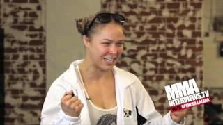 getlinkyoutube.com-Ronda Rousey says she'll make Steven Seagal poop himself like her Uncle Gene Lebell did