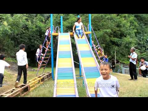 Visitors having fun time at Reiek Resort, Mizoram