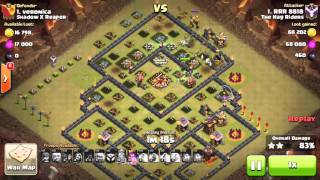 getlinkyoutube.com-HOW TO 3 STAR A VERY POPULAR TH10 BASE | LEVEL 40 HEROES NOT REQUIRED | MAXED BASE 3 STARRED! | COC