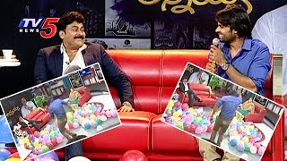 getlinkyoutube.com-Sai Dharam Tej Dance & Fun At Chiranjeevi Interview | Chiranjeevi Birthday Special | TV5 News
