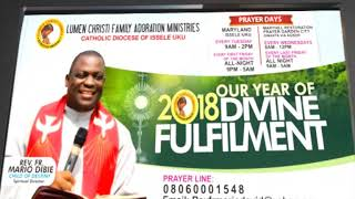 Rev Fr Mario David Dibie- Welcome to the Year 2018(Year of Divine Fulfillment)- CEMADONTV