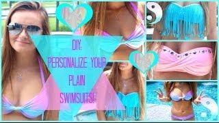 getlinkyoutube.com-DIY: Personalize Your Plain Summer Swimsuits ❀∞ | Jessica Reid