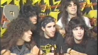 getlinkyoutube.com-Metal Hammer 1986 Party feat Iron Maiden, Anthrax, Thin Lizzy etc. (67 of 100+ Interview Series)