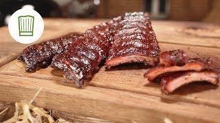 Spareribs - Rippchen aus dem Smoker - Baby Back Ribs auf den Grill #chefkoch