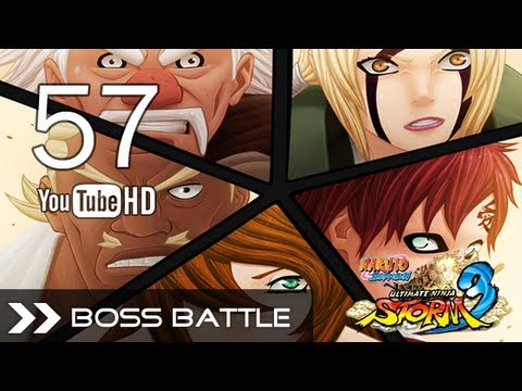 Naruto Ultimate Ninja Storm 3 - Madara Uchiha VS 5 Kage (Full Boss Fight) 1080p Legend