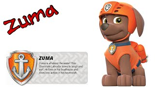 getlinkyoutube.com-Cómo dibujar paso a paso a ZUMA, de La Patrulla Canina (PAW Patrol)