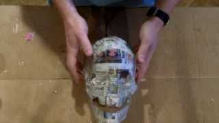 getlinkyoutube.com-Paper Mache Skull
