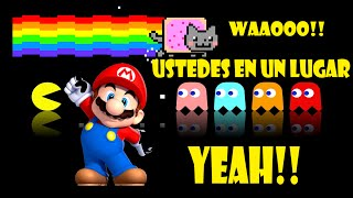 getlinkyoutube.com-GEOMETRY DASH # 8 - 2.0 - NIVELES MUY CHULOS( PAC-MAN, NYAN CAT Y MARIO BROS)