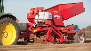 Grimme GB 330 potato planter for 3-row planting