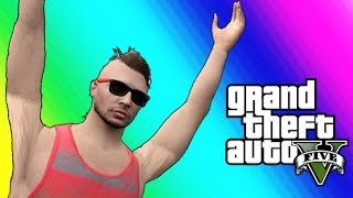 getlinkyoutube.com-GTA 5 Online Funny Moments - Golf Carts & Car Flying Glitch!