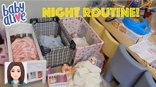 Night Routine Of All 25 Baby Alives!