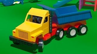 getlinkyoutube.com-Big Trucks & Vehicles. Cartoons for Kids. Learn numbers [video xe tải lớn/큰 트럭] ABC 123 农行