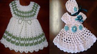 getlinkyoutube.com-Vestidos para bebe tejidos a crochet o ganchillo Parte 5