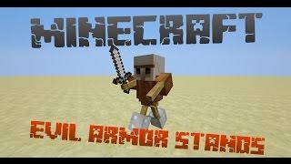 getlinkyoutube.com-Minecraft 14w33a: Evil Armor Stands / Robots