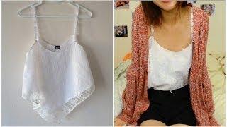 getlinkyoutube.com-✂ DIY: EASY Lace Crop Top