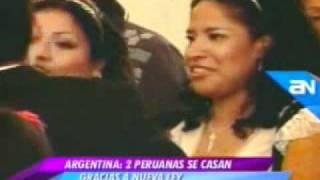 Dos peruanas contraen matrimonio en Argentina