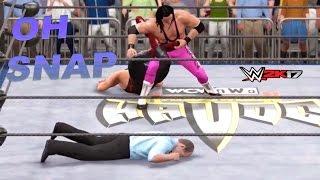 getlinkyoutube.com-Knocked the Ref the EFF out! WWE HOF Showcase #2