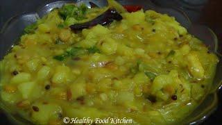 getlinkyoutube.com-Poori Kizhangu Masala Recipe-Potato Curry-Side dish for Poori By Healthy Food Kitchen