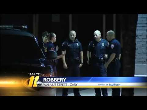 Customer robbed outside Cary bank