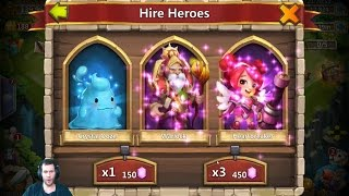 Rolling 50,000 Gems For Heroes + Fireworks Castle Clash