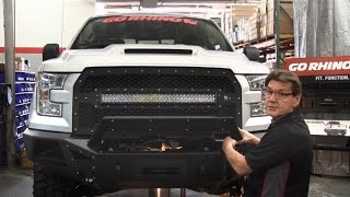 getlinkyoutube.com-Go Rhino BR5 Front Bumper Overview and Installation for 2015 Ford F-150 (24295T)