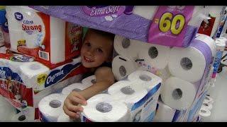 getlinkyoutube.com-The Toilet Paper Fort Challenge
